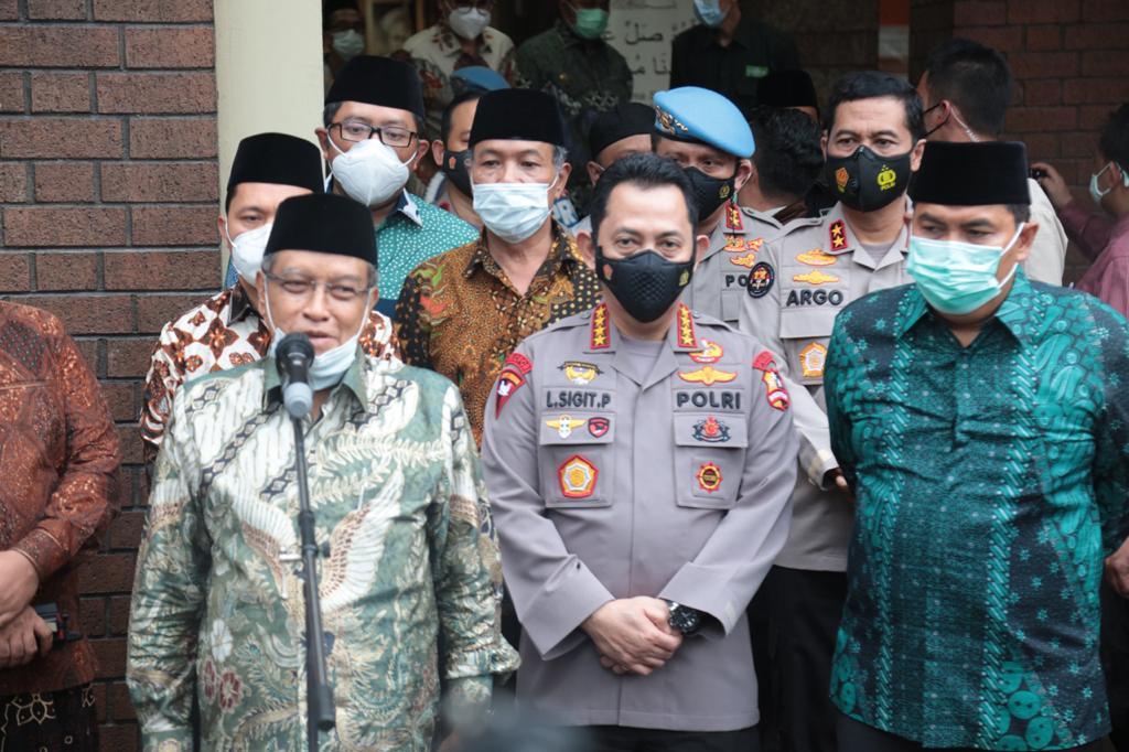 Kapolri Listyo Sigit Prabowo kunjungi kantor PBNU, Kamis (28/1/2021), foto : ist